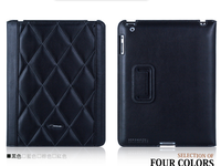 TS-Case Lattice Grain - Черный кожаный чехол TS-Case Lattice Grain для iPad 2/Новый iPad/ iPad 4